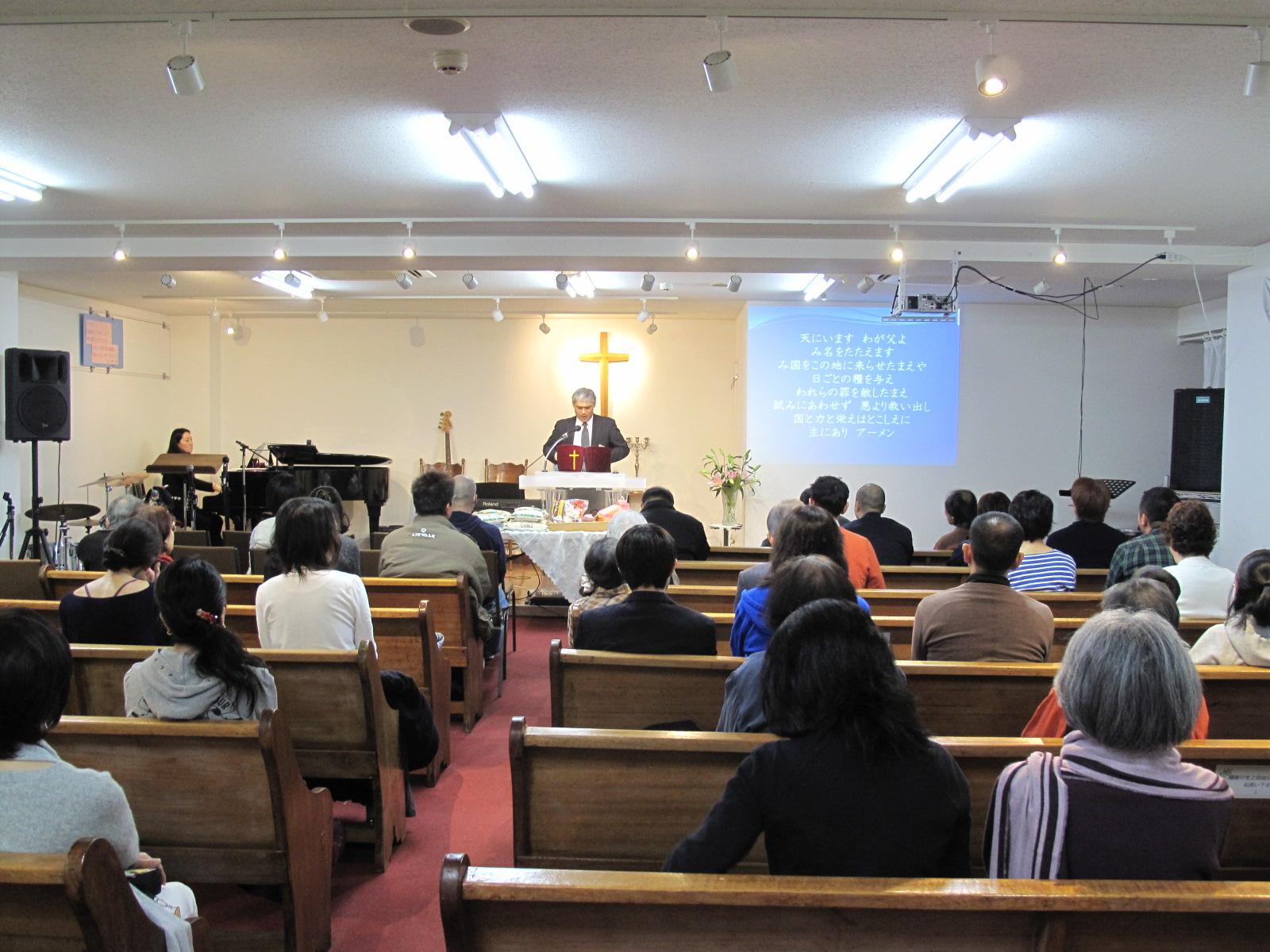 礼拝の様子のイメージ